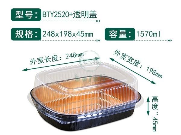 黑金铝箔容器BTY2520